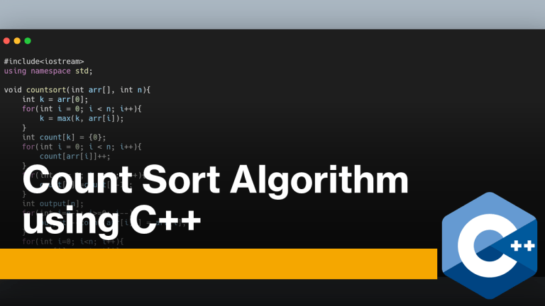 Count Sort using C++