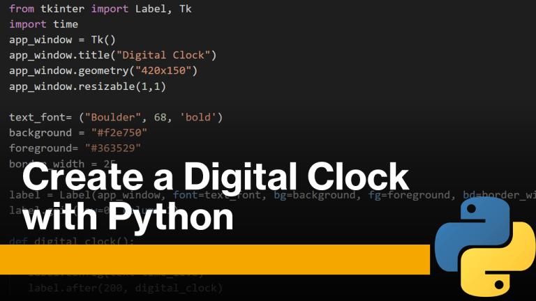 Digital Clock with Python