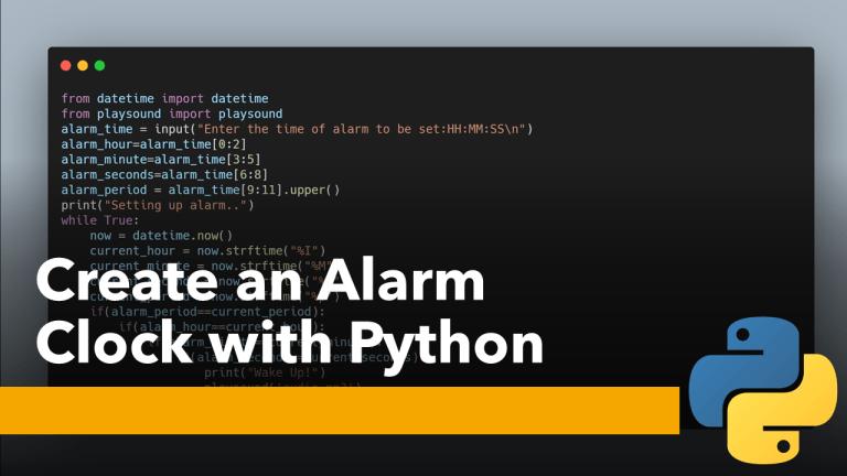Alarm Clock with Python