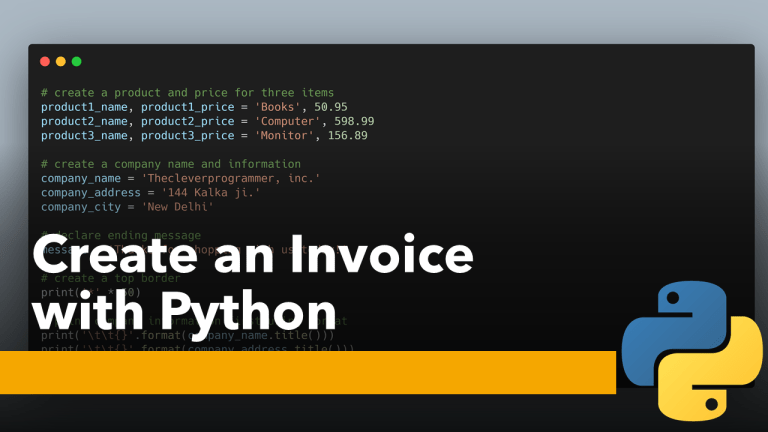 Create an Invoice with Python