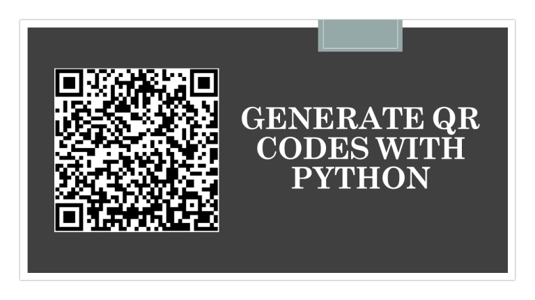 QR Codes with Python