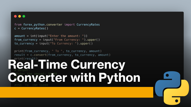 Real-time Currency Converter with Python