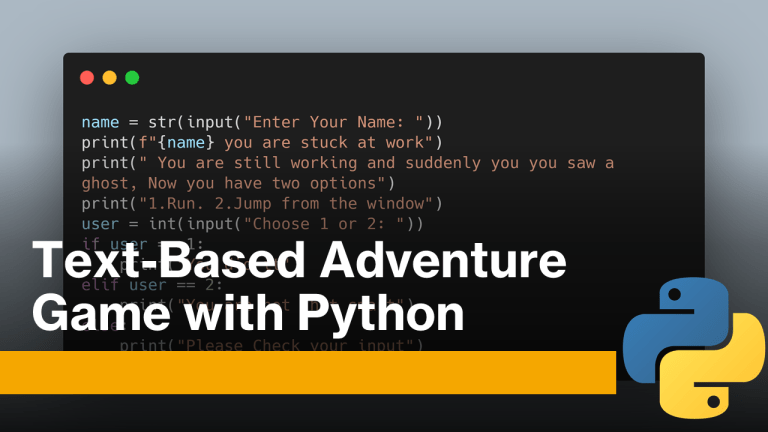 Text-Based Adventure Game with Python