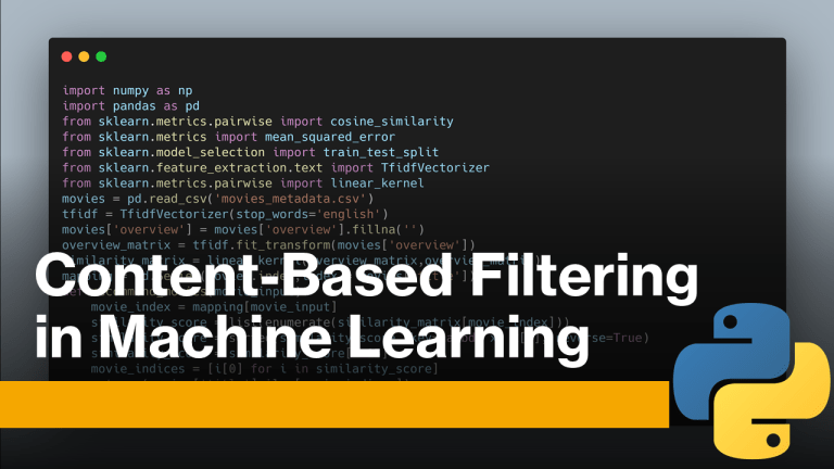 Content-Based Filtering in Machine Learning