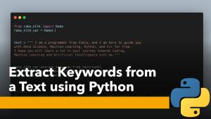 Extract Keywords using Python