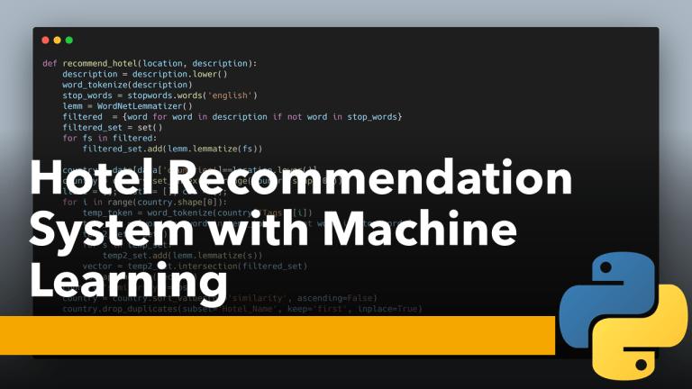 Hotel Recommendation System with Machine Learning