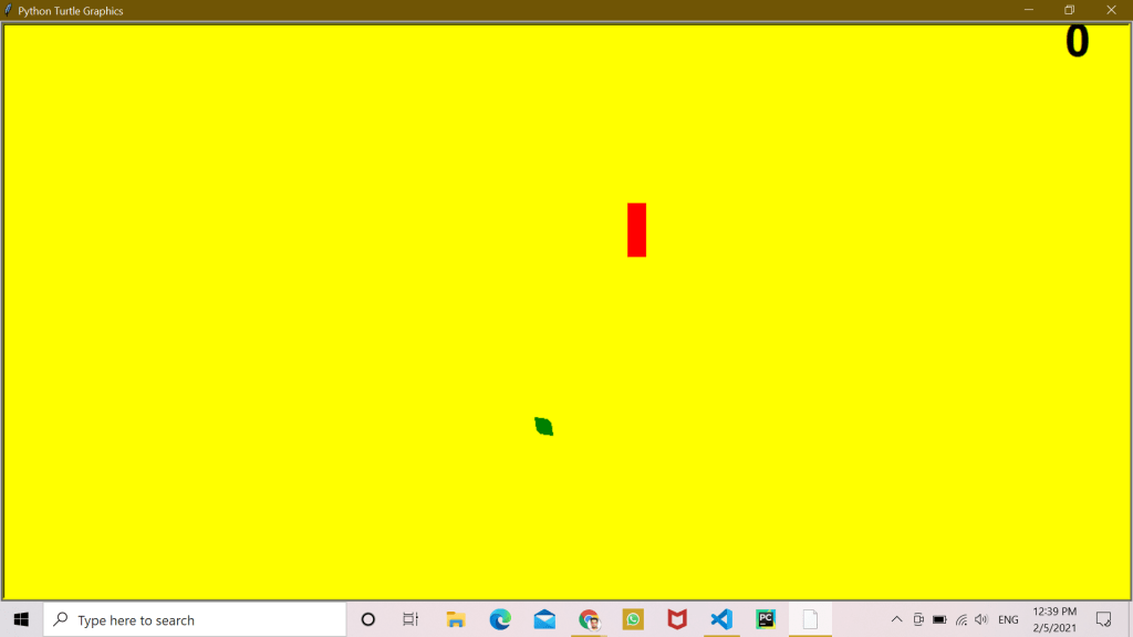 create a caterpillar game with Python