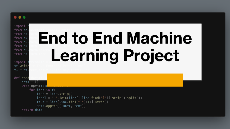 End to End Machine Learning Project