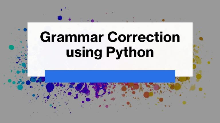 Grammar Correction using Python