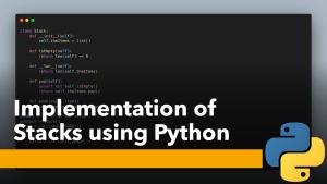 Stacks using Python