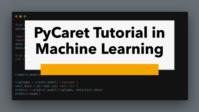PyCaret in Machine Learning