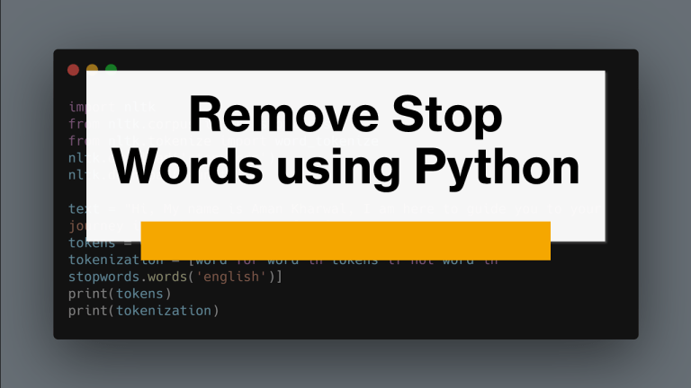 Remove Stop Words using Python