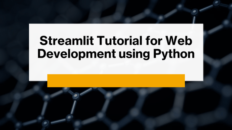 Streamlit Tutorial using Python