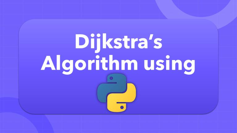 Dijkstra's Algorithm using Python