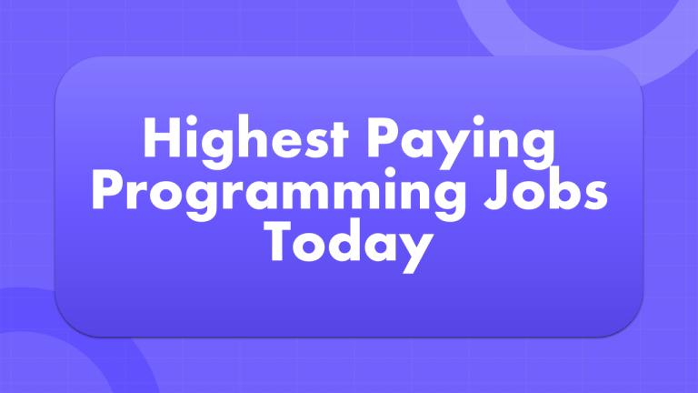 Highest Paying Programming Jobs