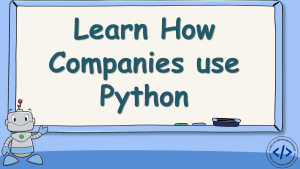 How Companies use Python?