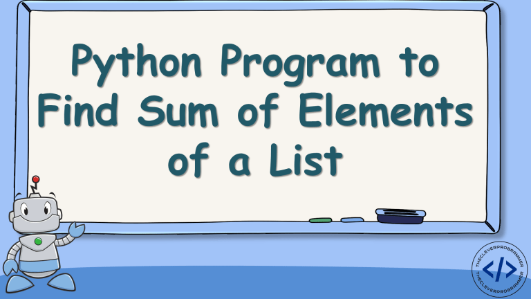 Sum of Elements of a Python List