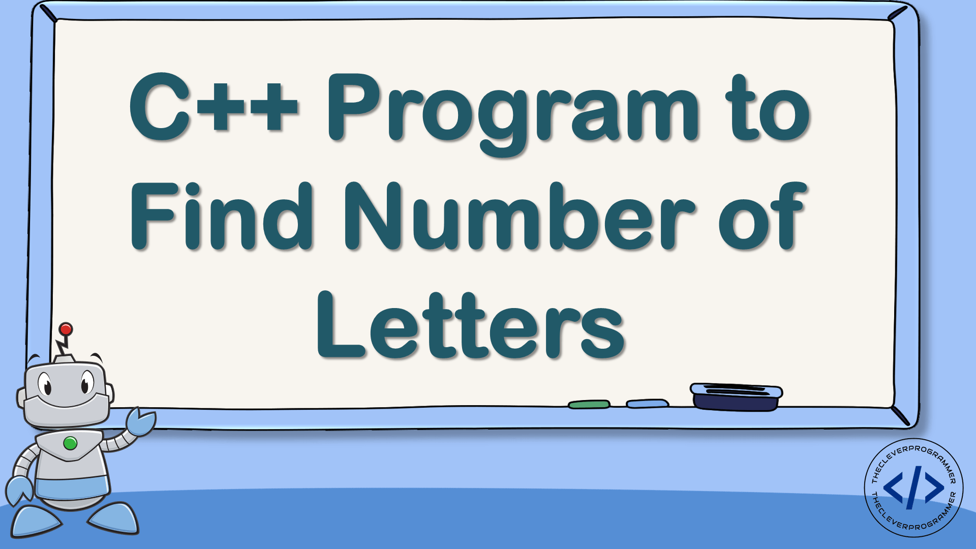 C++ Program to Find Number of Letters