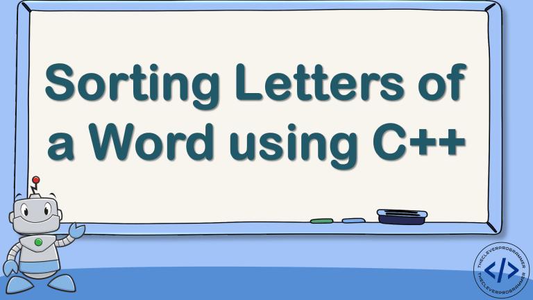 Sort Letters using C++
