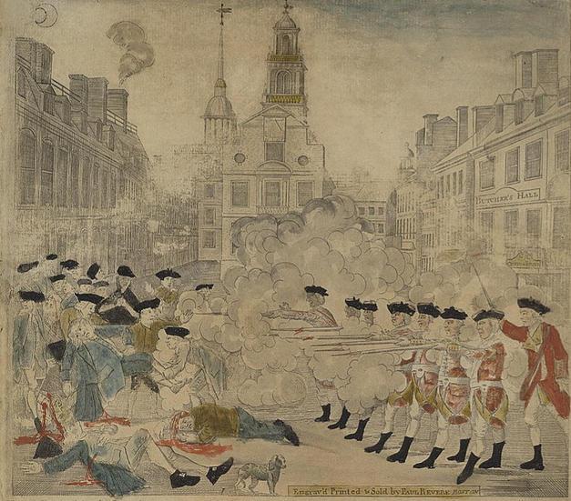Paul Revere's Engraving of The Boston Massacre