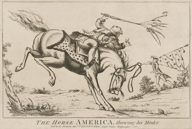 Revolutionary War Political Cartoon