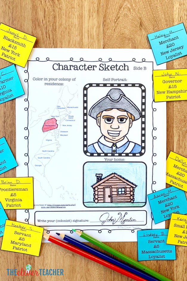 Declaration of Independence choose your identity lesson