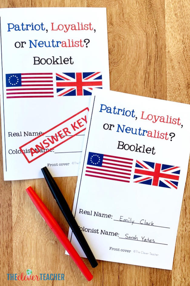 Patriot, Loyalist, or Neutralist Pamphlets