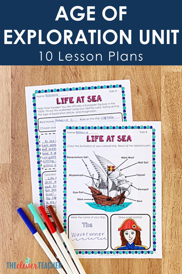 age of exploration life at sea lesson