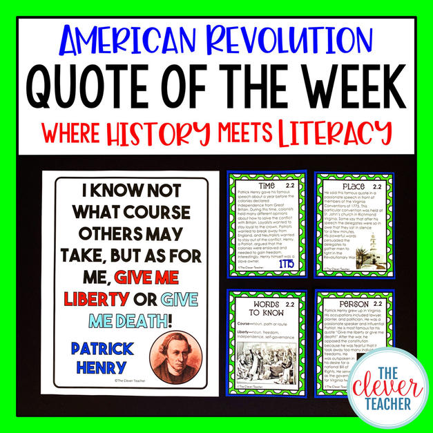 American Revolution Quote of the Week Lessons