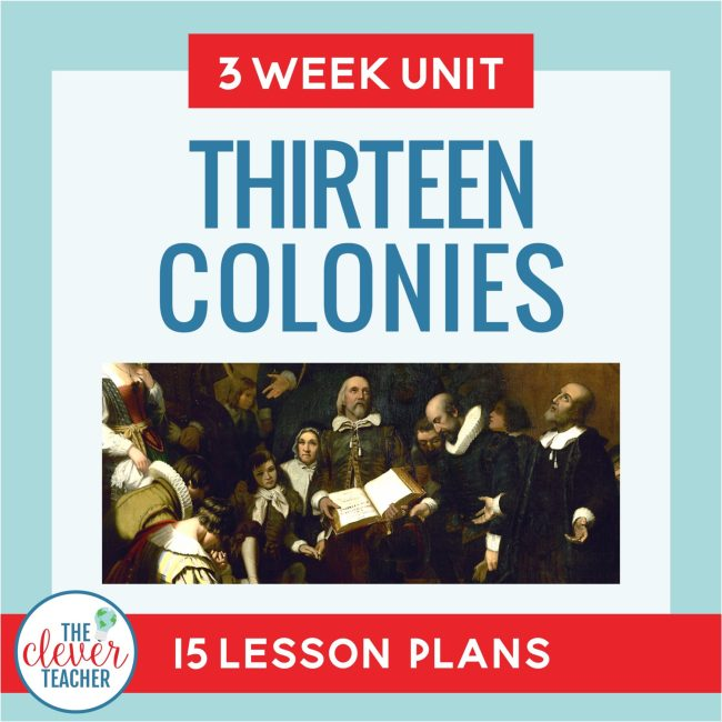 thirteen colonies unit