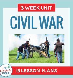 Civil War: 3 Week Unit   Distance Learning   for Google Classroom   The  Clever Teacher [ 2048 x 2048 Pixel ]