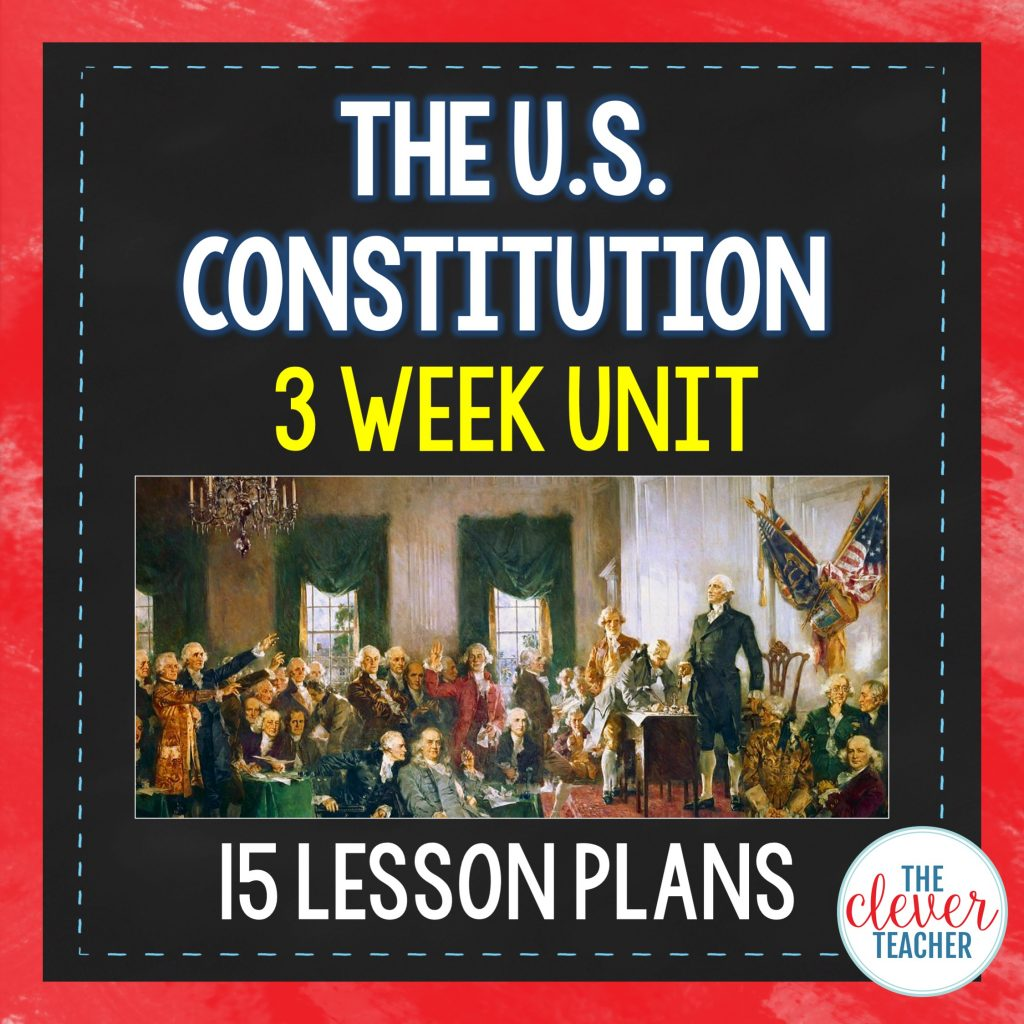 Us Constitution 3 Week Interactive Unit
