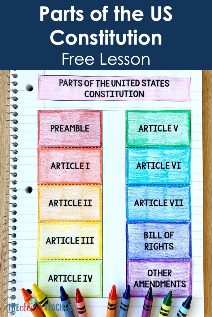 Organization of the Constitution Worksheet