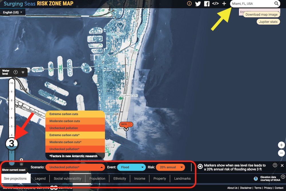 The Best Climate Change Mapping Tools For You The Climate Advisor - Us-sea-level-map