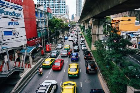 Traffic jam in a major city