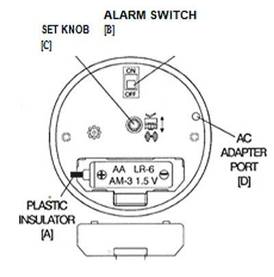 Quartz Alarm Clock With Illuminated Dial Operating