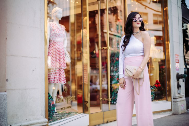 pink culottes-nyfw-outfit-idea