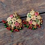Floral Jadau earrings