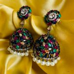 Victoria Multi-Color Antique Jhumkas