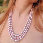 Onion Pink Pearl Necklace