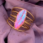 Poppy Pink Cuff Bracelet