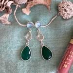 Cece Gemstone Drop Earrings