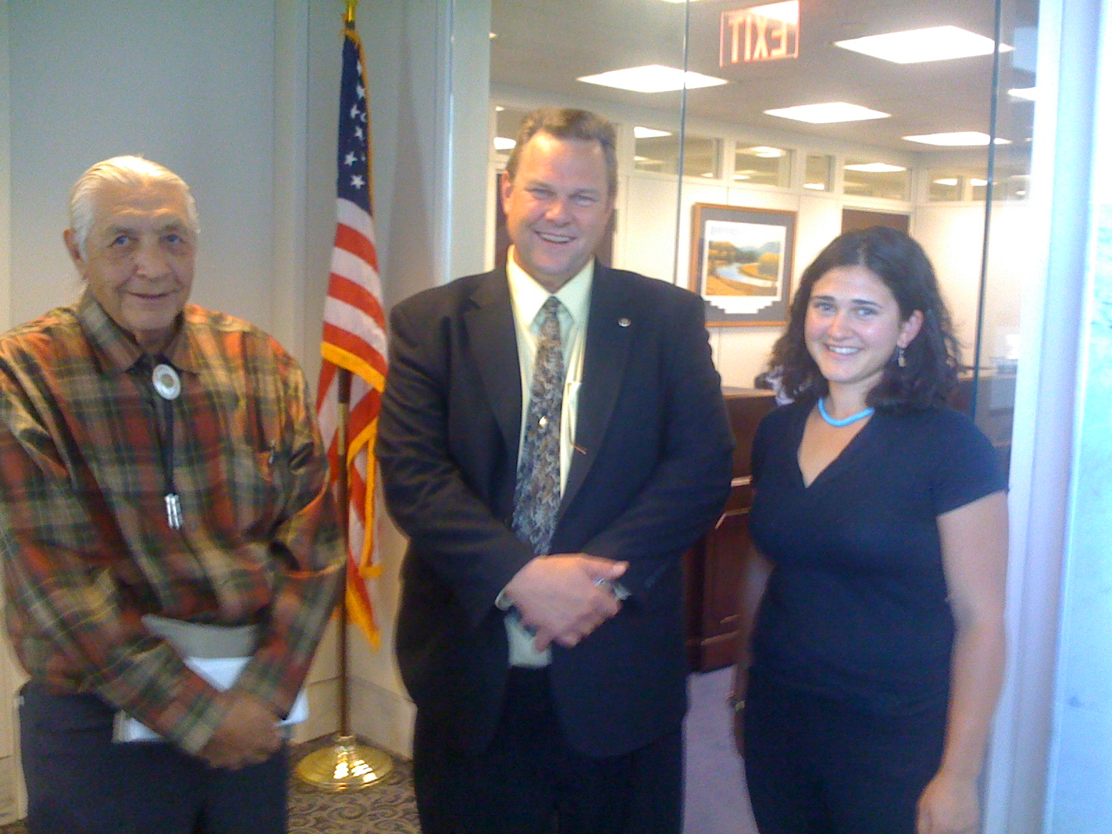 Howard Boggess, MT Senator Jon Tester and Makendra