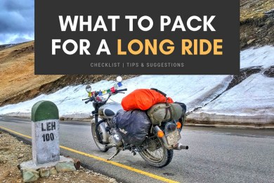 WHAT TO PACK FOR A LONG RIDE
