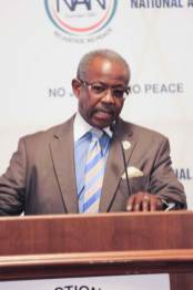 Rev. Nelson B. Rivers, III, Vice President, Religious Affairs & External Relations, addressing the audience at the National Action Network 1st Annual Policy Forum at the US Capital, Washington, DC
