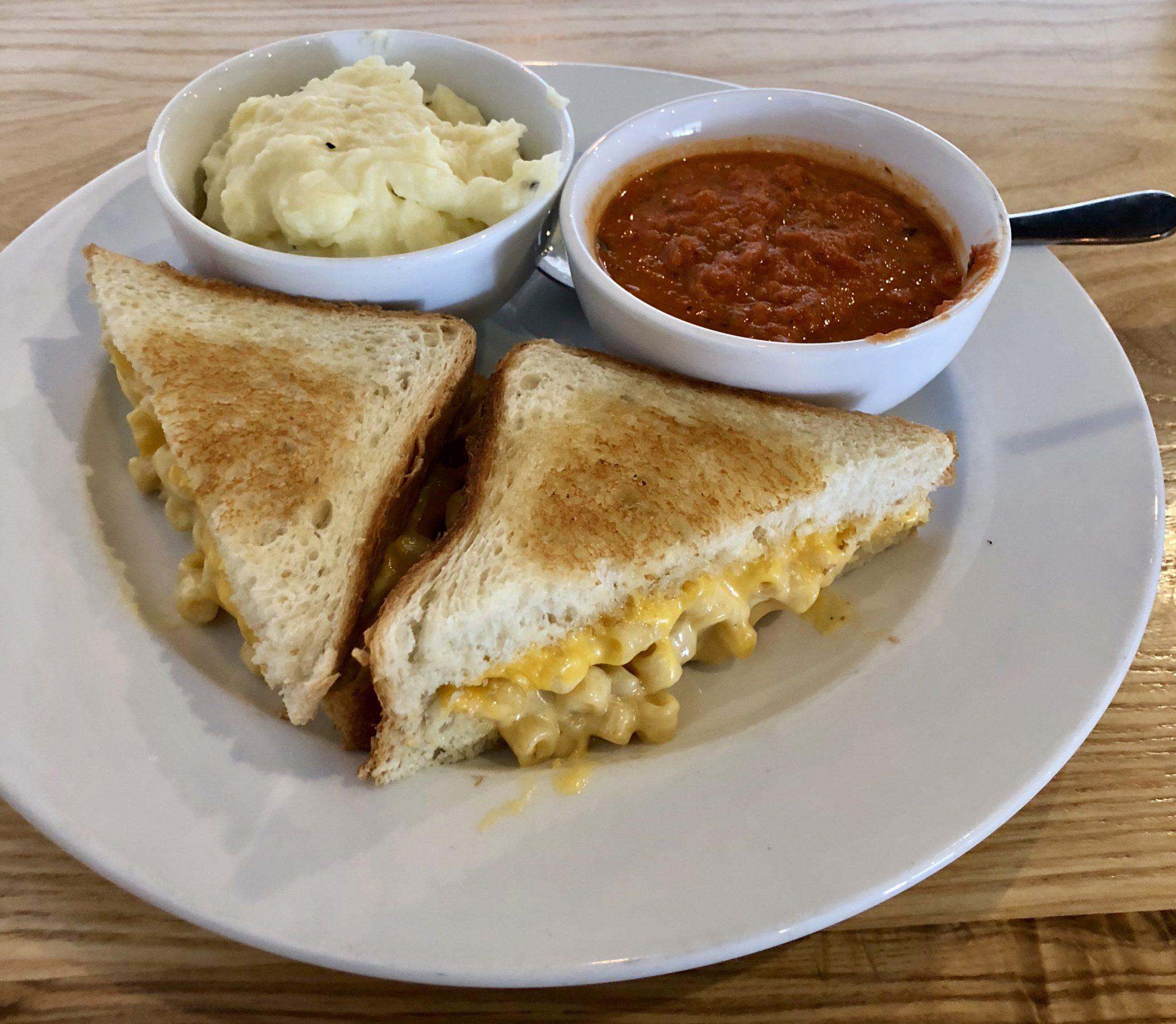 Mac and cheese sandwich from Comfort - A Southern Bistro