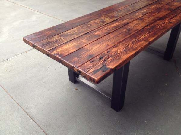 Metal and Wood Dining Table