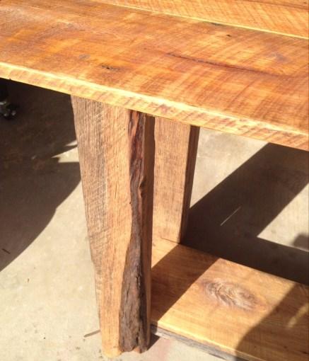 Long Barnwood Table - Old World Oil Finish
