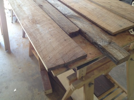 Raw Barnwood used for Long Table