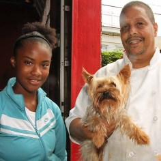 Rodney Collazo w/Tyana and Chase, Asbury Park - He's the most loving and obedient thing that we know, animal or person.